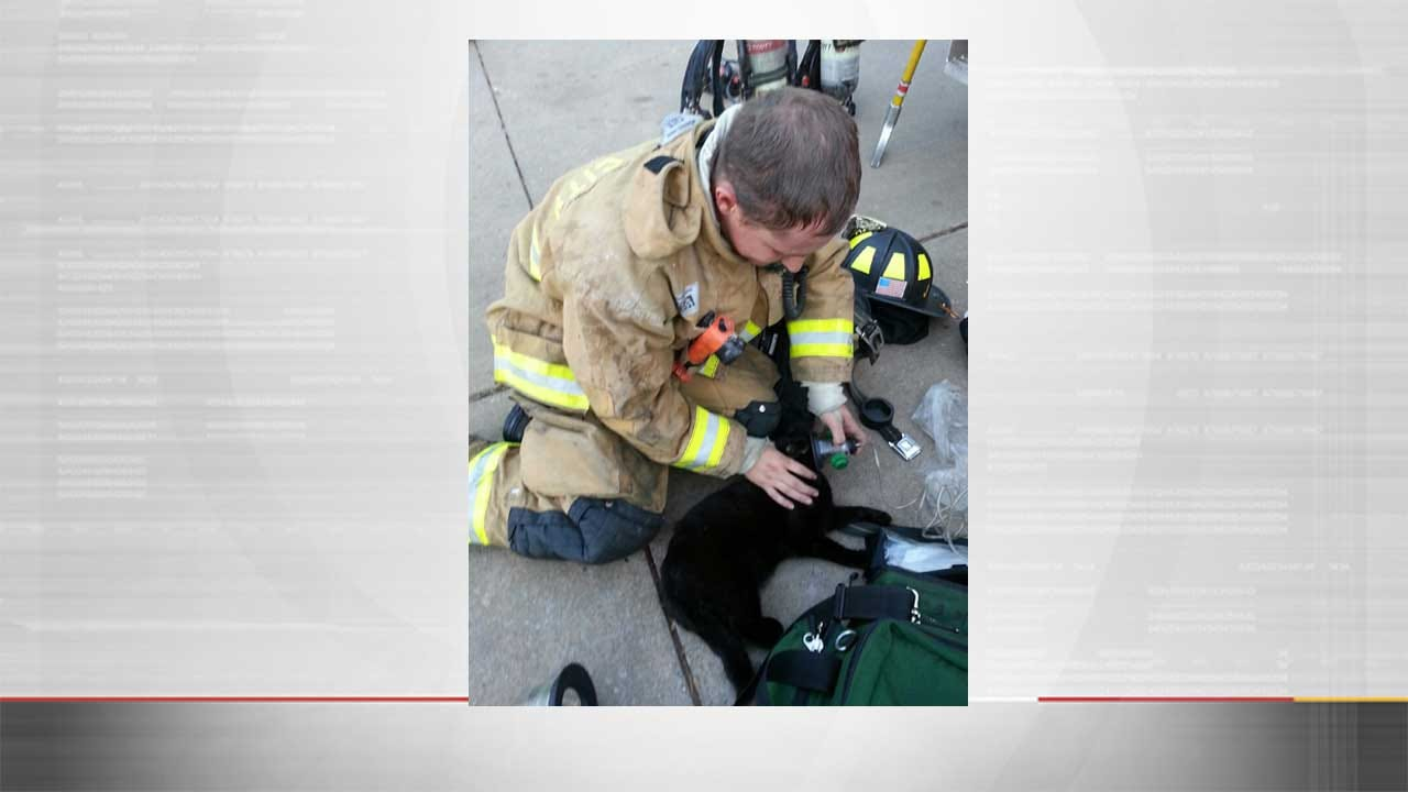 Minor Injuries Reported, Cat Saved After Blaze At NW OKC Apartment Complex
