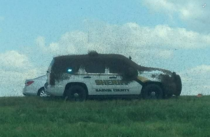 Beeware! Semi Hauling Honey Bees Rolls On SB I-35 In Garvin County