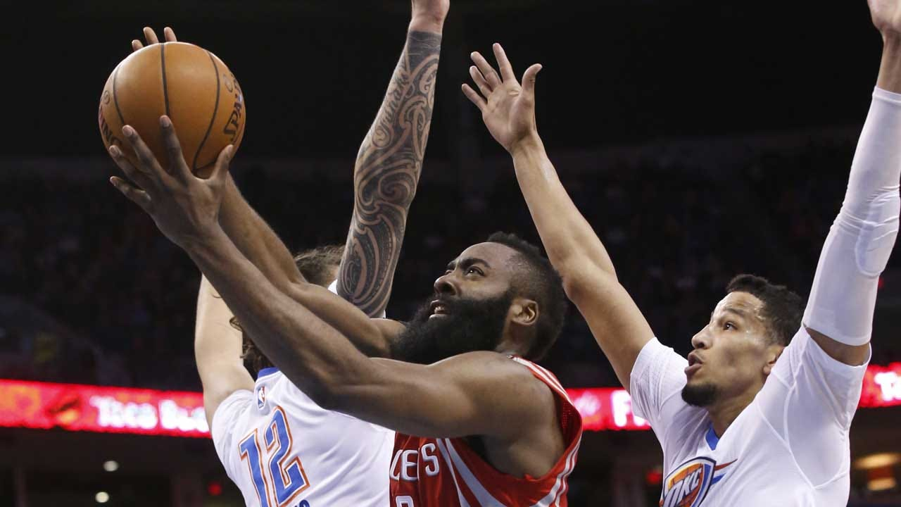 James Harden Erupts For 41 Points To Lead Rockets Past Thunder