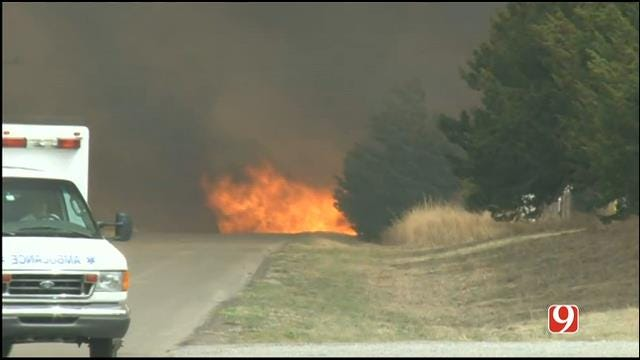 Authorities: Wildfire Burning Out Of Control In Woodward County