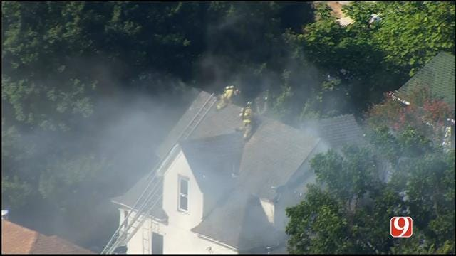 Crews Contain House Fire In Northwest OKC