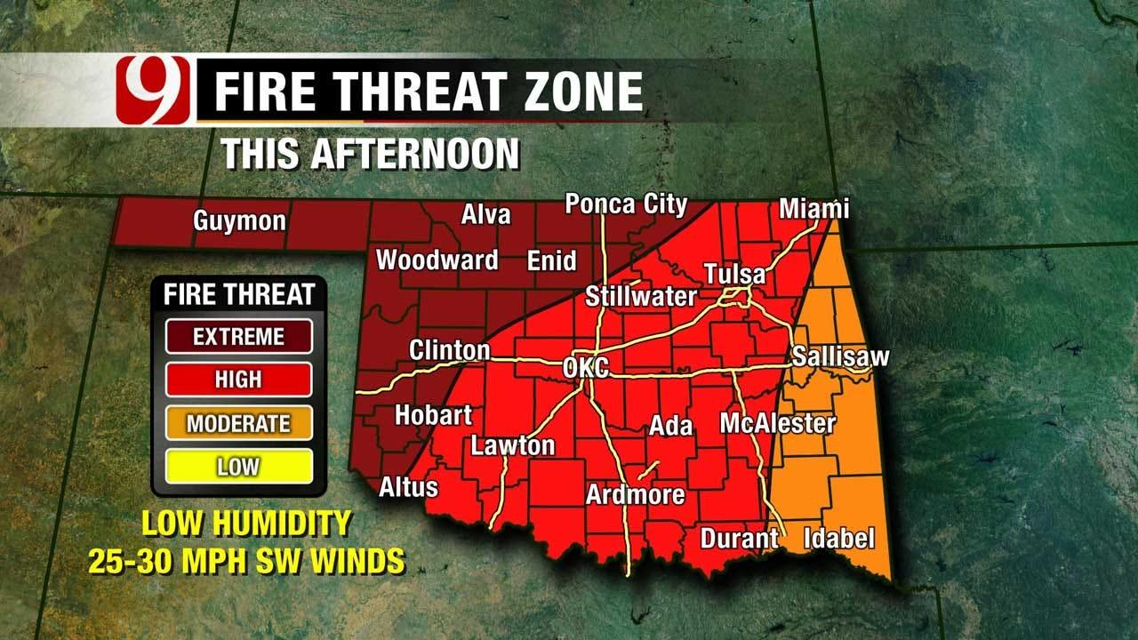 Warm, Windy, But High Fire Threat Across Oklahoma Saturday