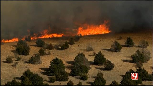 Dry, Windy Weather Again Fueling Grass Fires Around The Metro