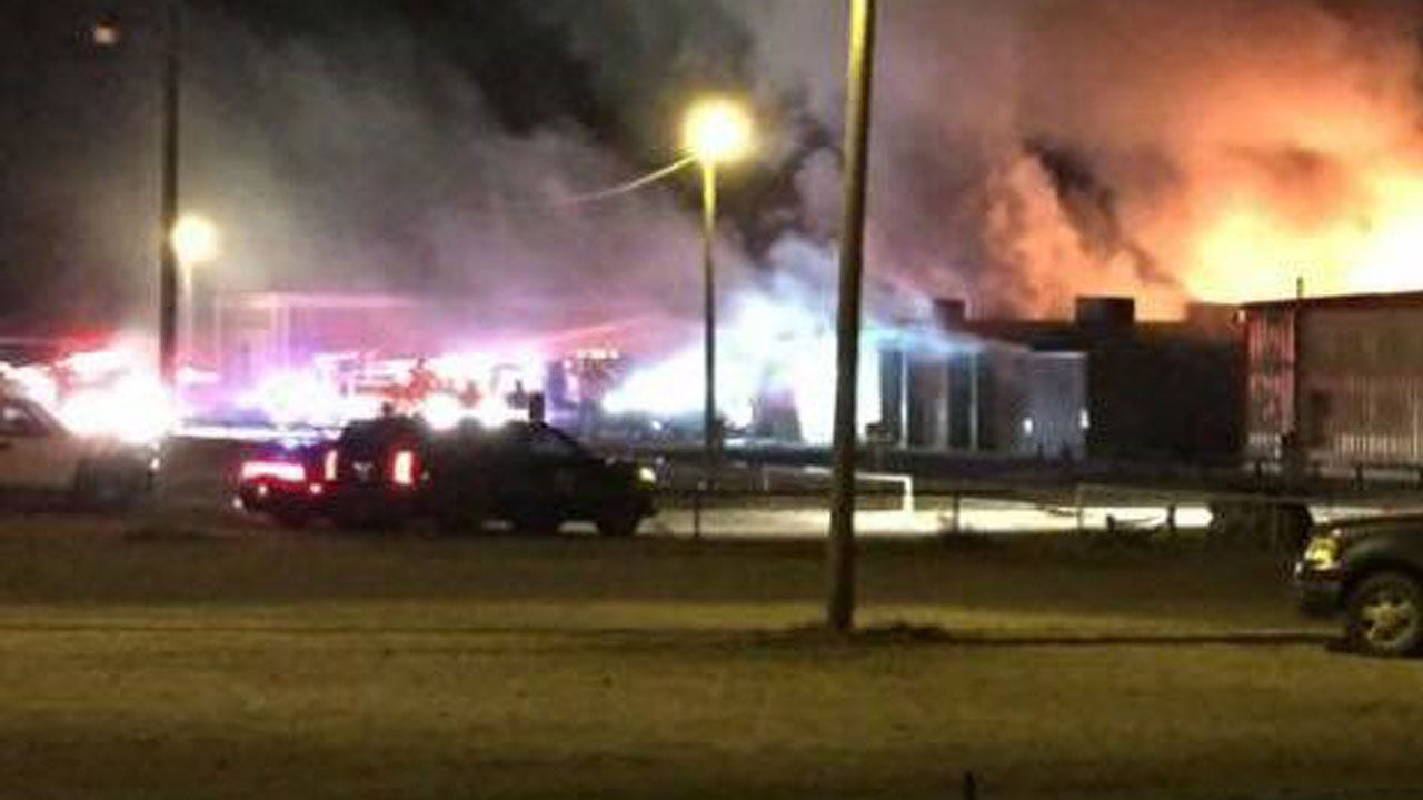 Dover High School Destroyed In Overnight Fire