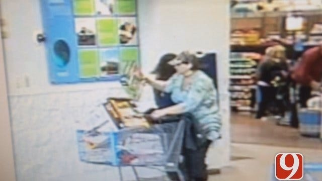 Authorities Hope To Identify Woman Cashing Stolen Checks In McClain County