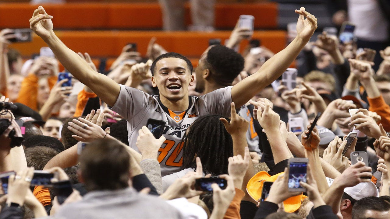 OSU BBall: Pokes Upset No. 3 Kansas Inside GIA