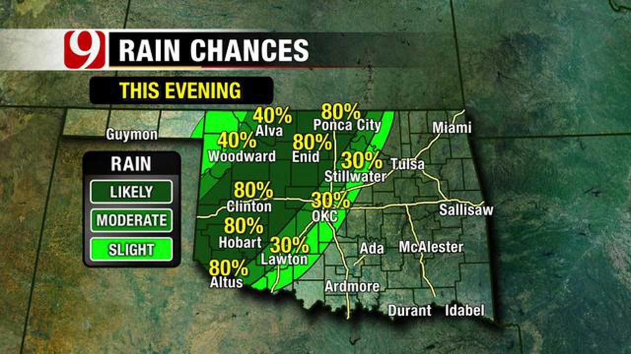 Rain Chances Possible Tuesday, Wednesday