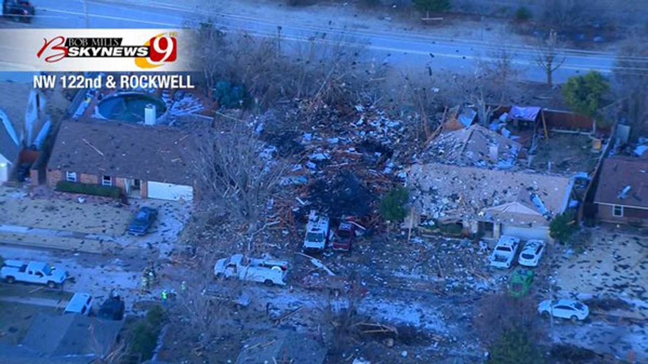 Insurance Commissioner Walks Through Wreckage Of NW OKC House Explosion