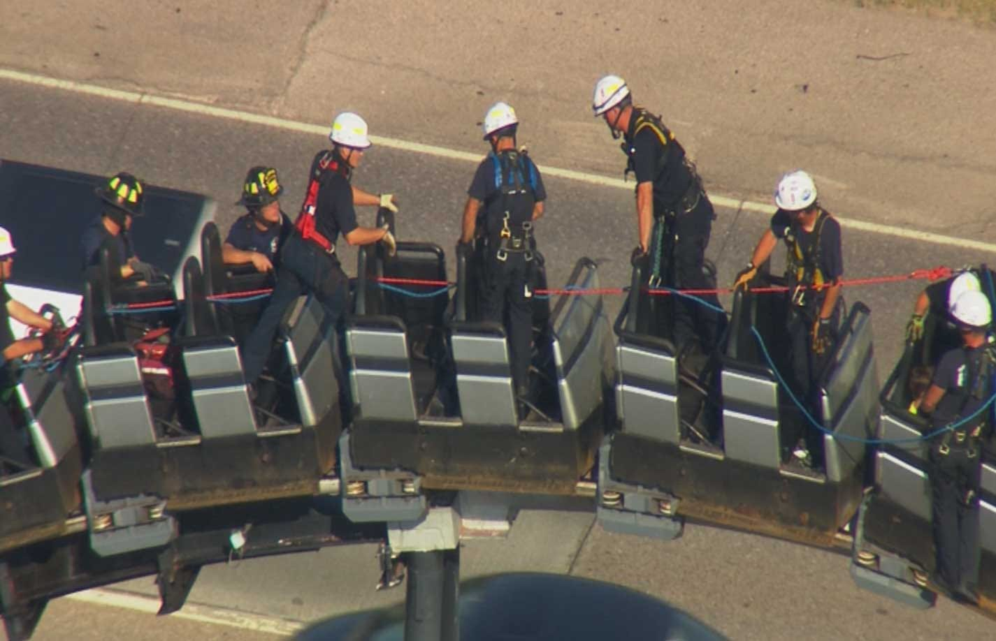 OKC Firefighters Reflect On Roller Coaster Rescue At Frontier City