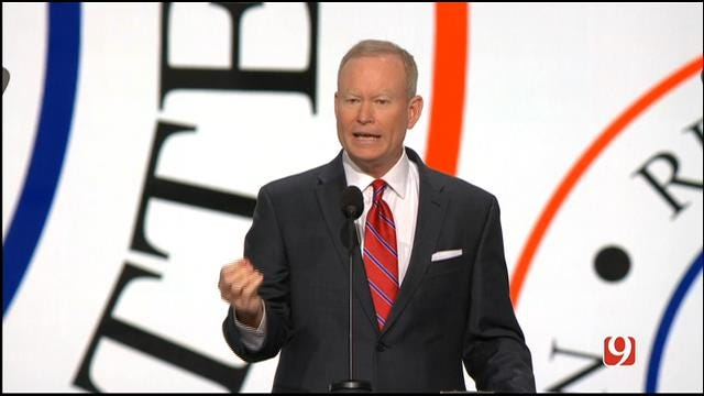 OKC Mayor Mick Cornett Speaks At RNC In Cleveland