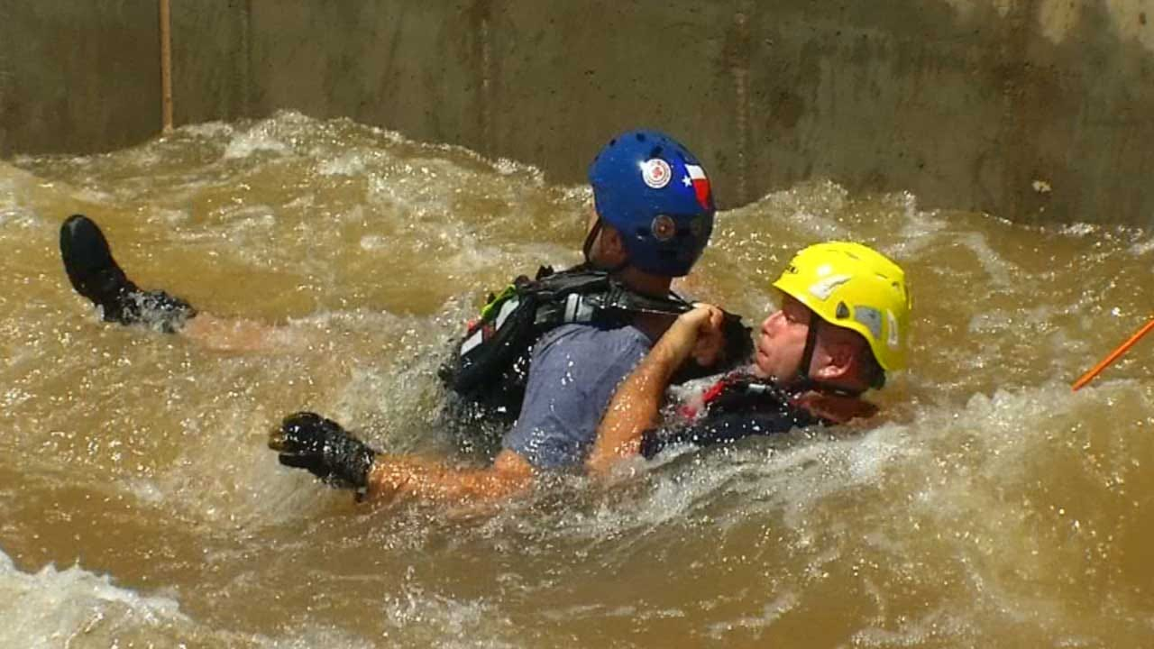 Firefighters Use OKC Rapids For Water Rescue Training