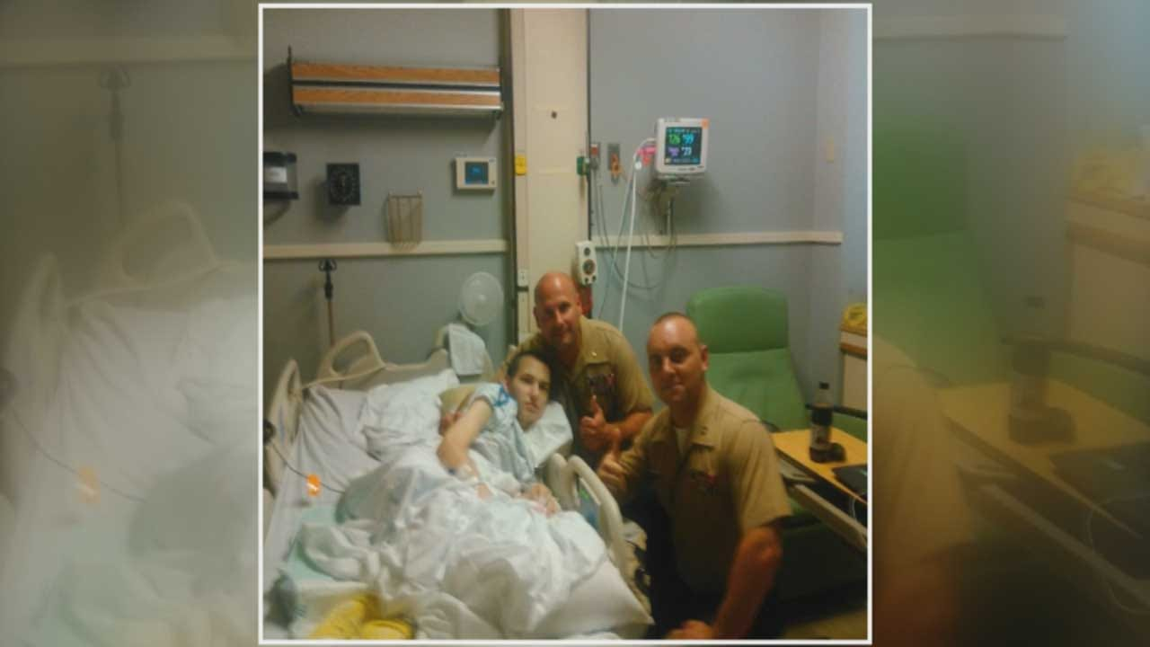 OKC Marines Surprise Cancer Patient