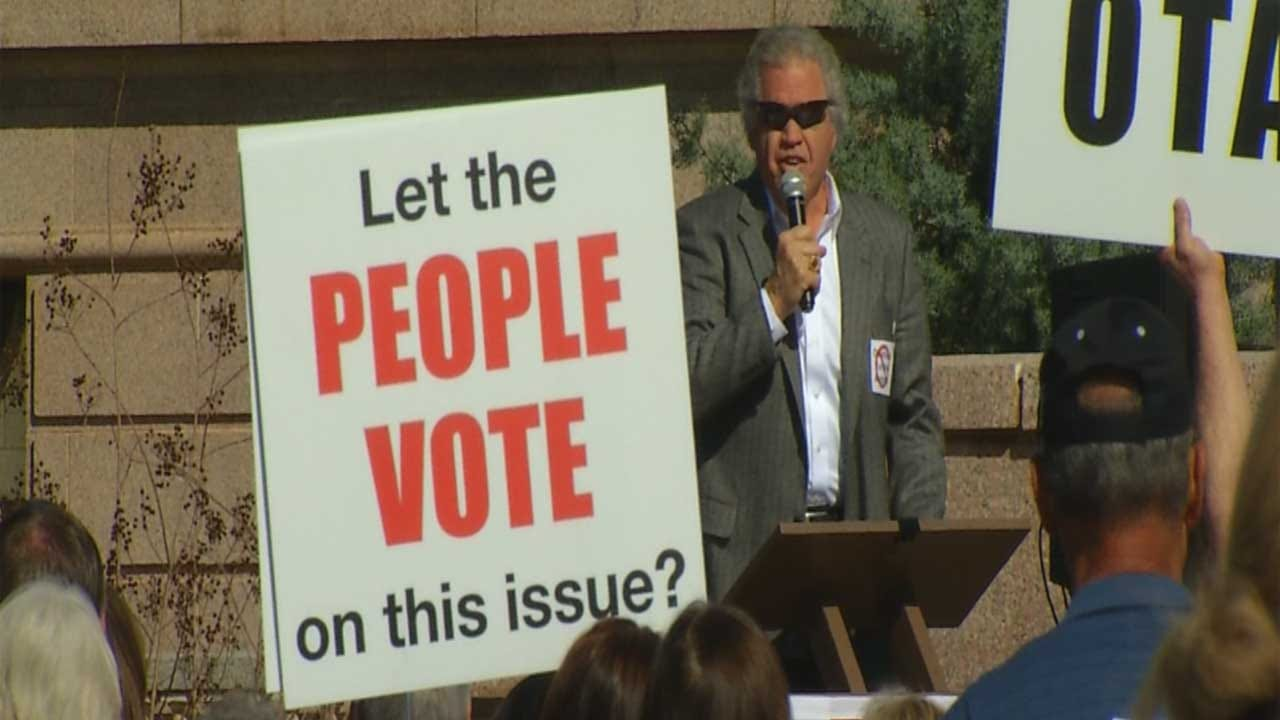 Residents Gather At The Capitol To Protest Against New Turnpike