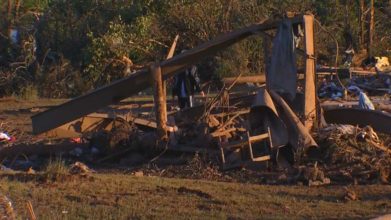 Garvin Co. Residents Picking Up The Pieces After Tornado