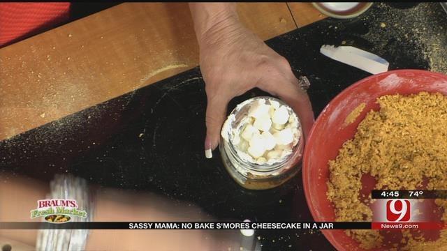 No Bake S'mores Cheesecake in a Jar