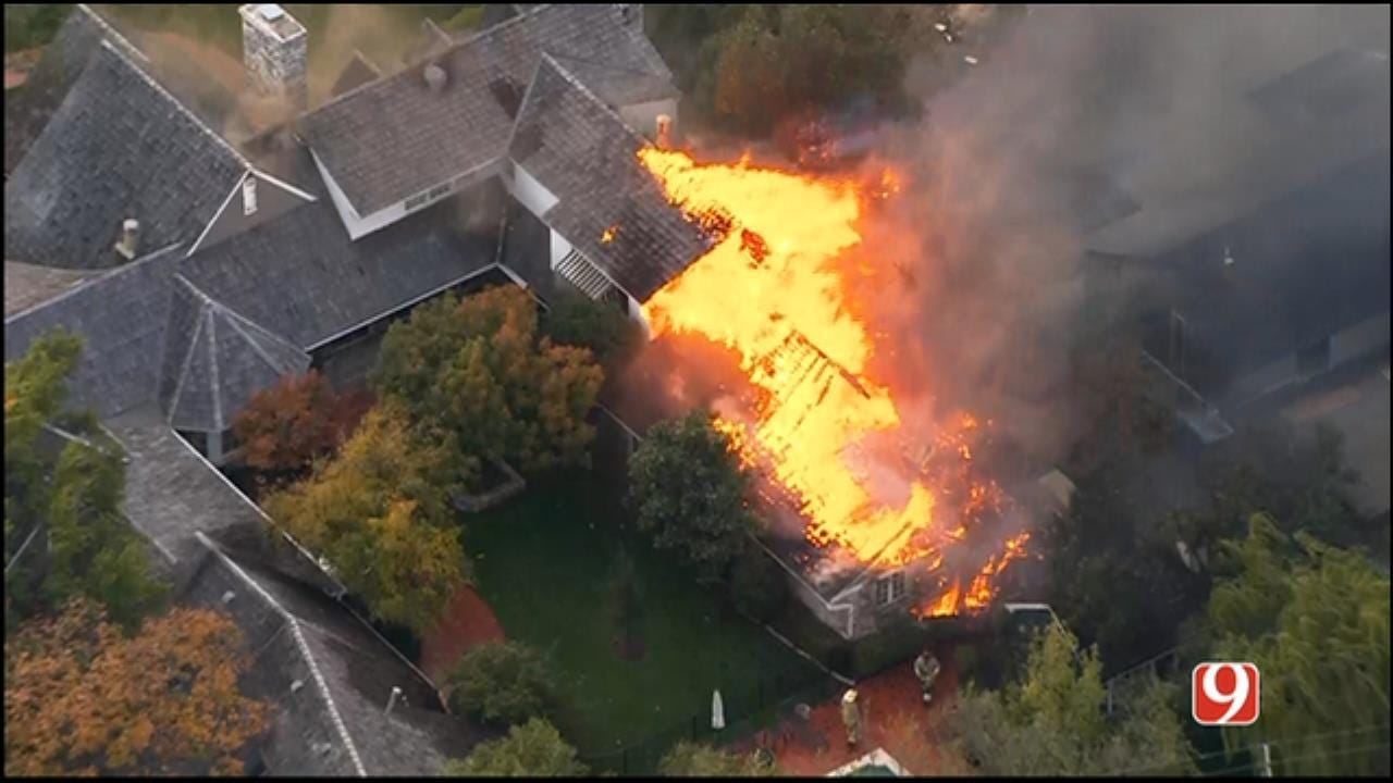 Fire Ravages Million-Dollar Home In Nichols Hills