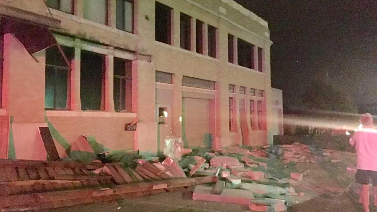 Large Earthquake Damages Downtown Cushing, Rattles Residents Across The State
