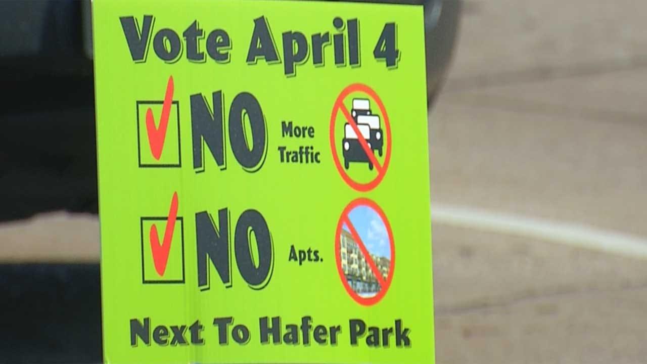 Opponents Protest New Development Near Hafer Park
