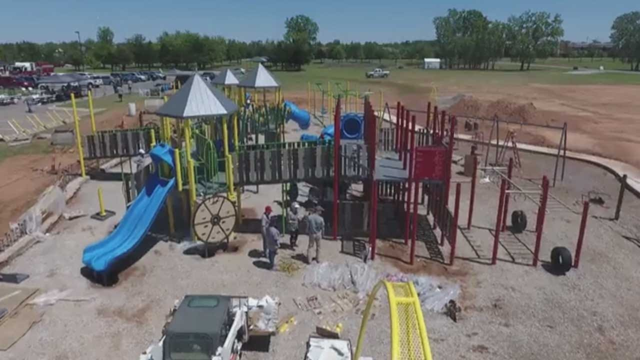 New 'All-Inclusive' Park For Children With Special Needs Opens In Mustang