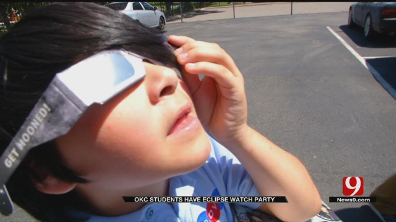 6th Graders Experience Solar Eclipse At Dove Science Academy