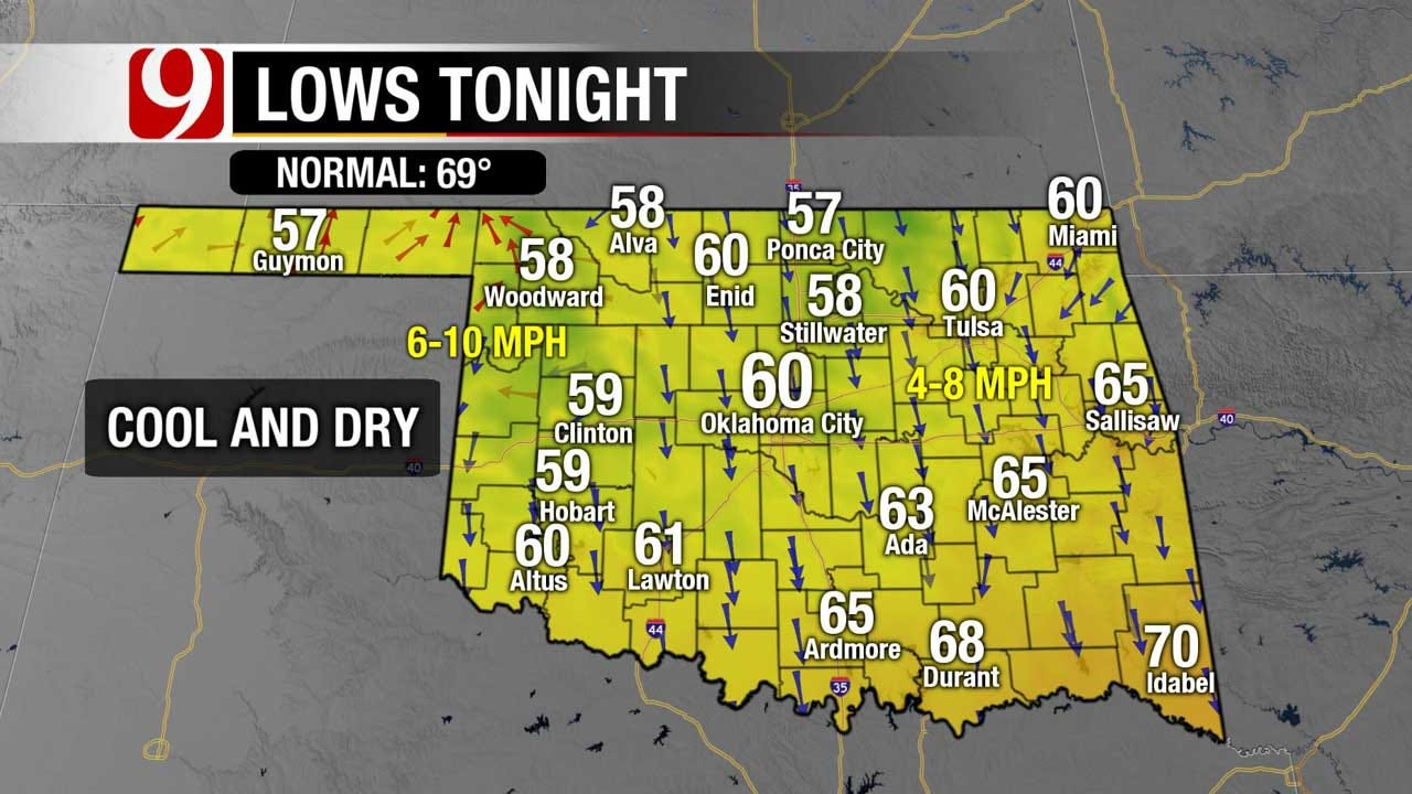 Seasonally Cool Temps In Store Tuesday Night For OKC Metro