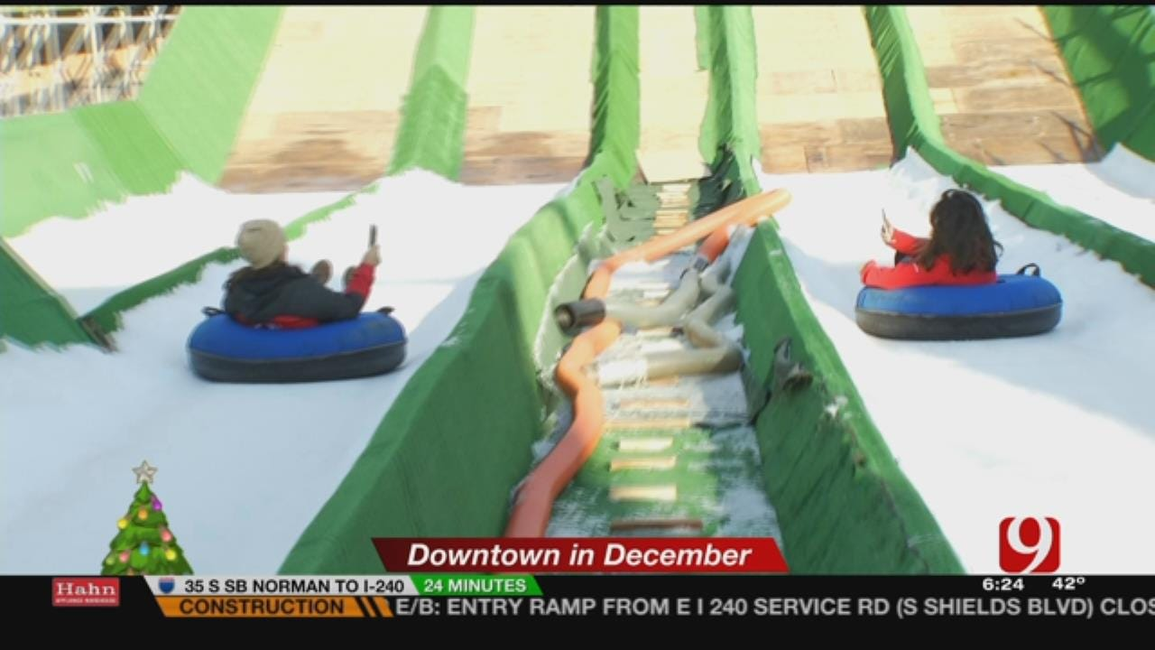 News 9 This Morning Team Goes Snow Tubing In The Ballpark
