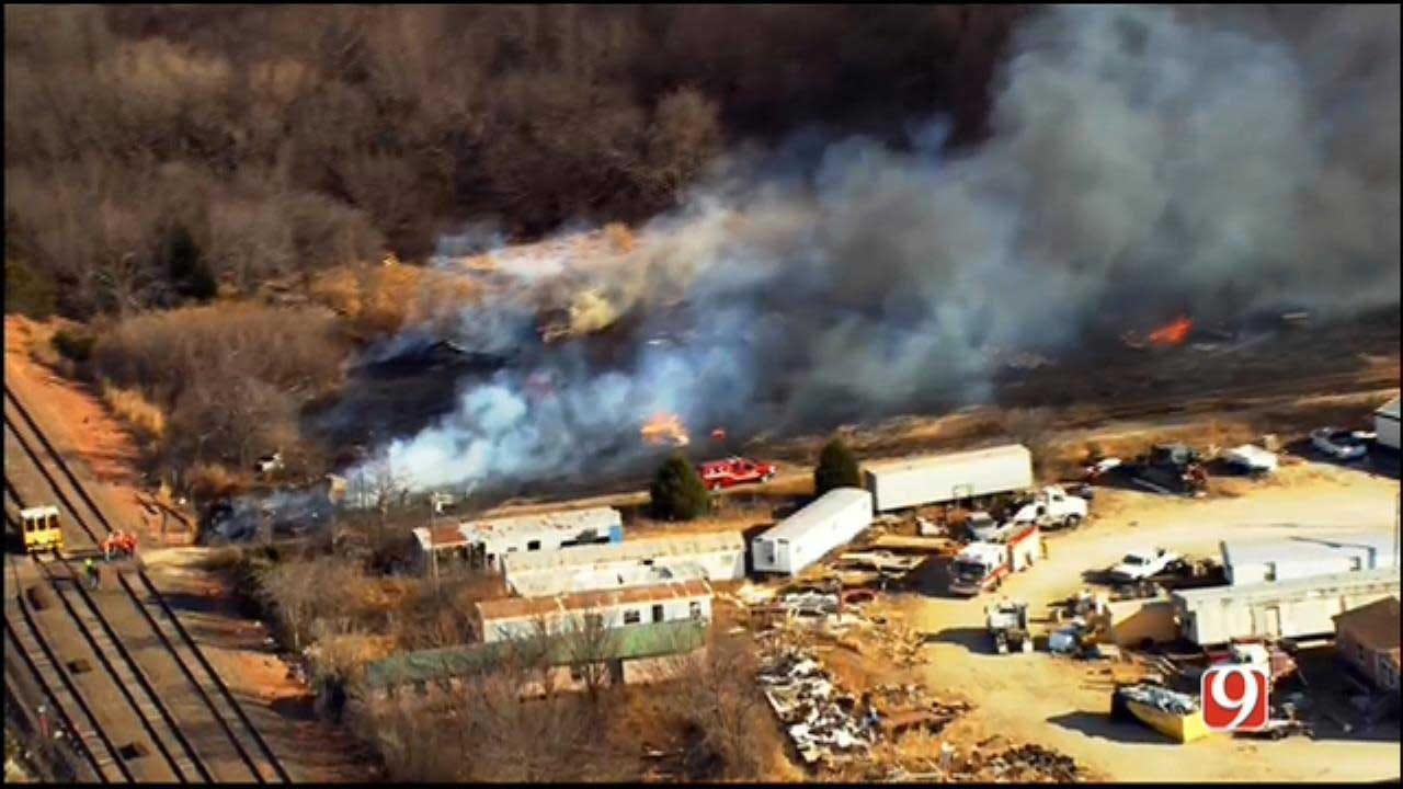 Crews Respond To Wildfire In SE OKC