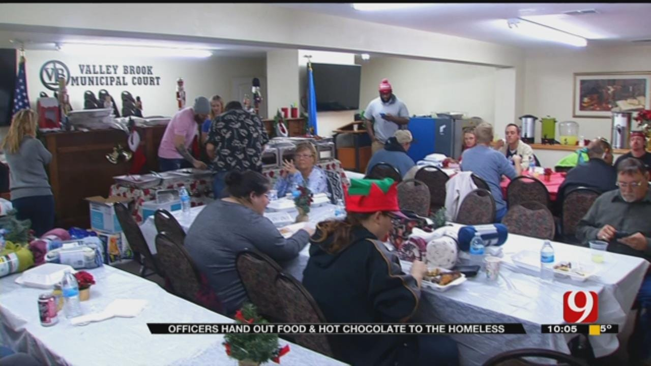 Valley Brook PD Serves Food, Cocoa To Homeless
