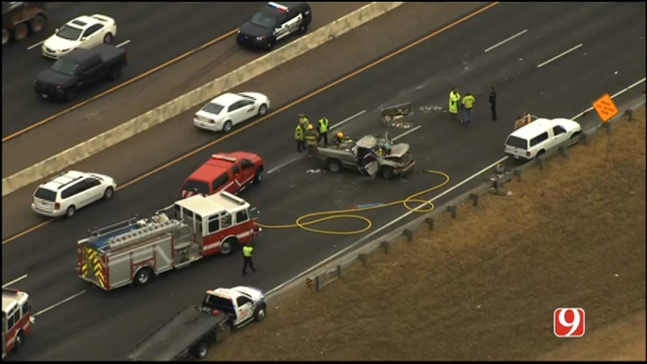 Southbound I-35 Re-opened In Moore After Injury Crash