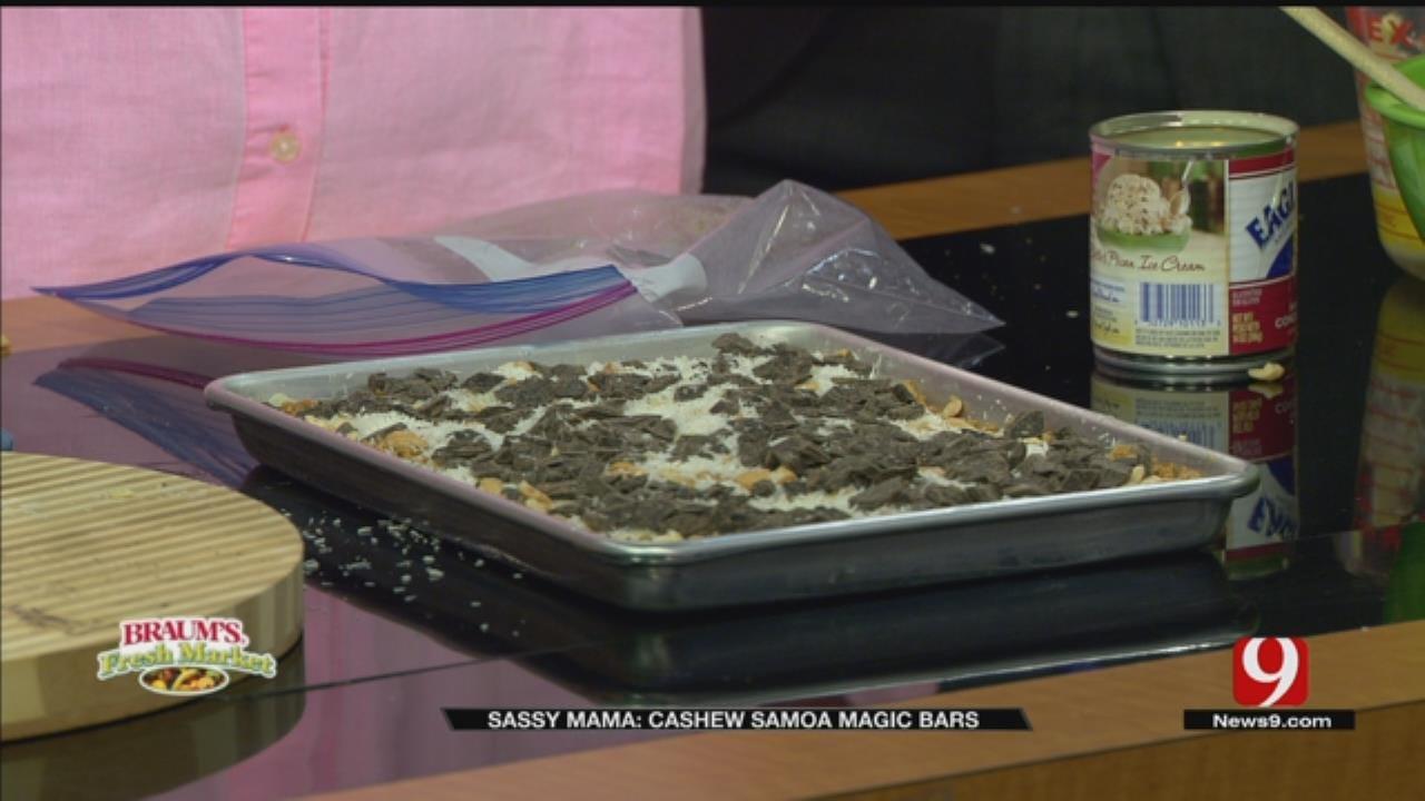 Cashew Samoa Magic Bars