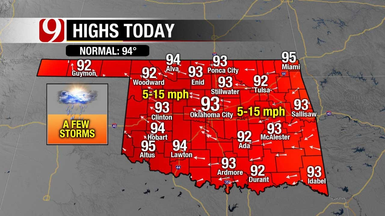 The Heat Dome Begins To Move Over Oklahoma