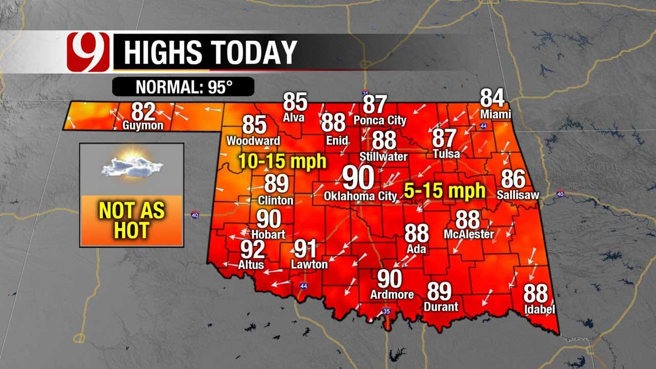 Temps Drop Into The 80's Sunday, Rain & Storm Chances Increase Overnight