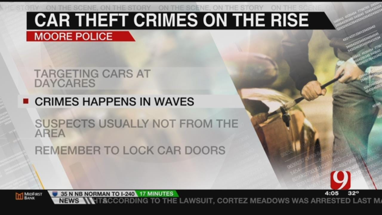 Moore Police Warn Of Car Break-Ins