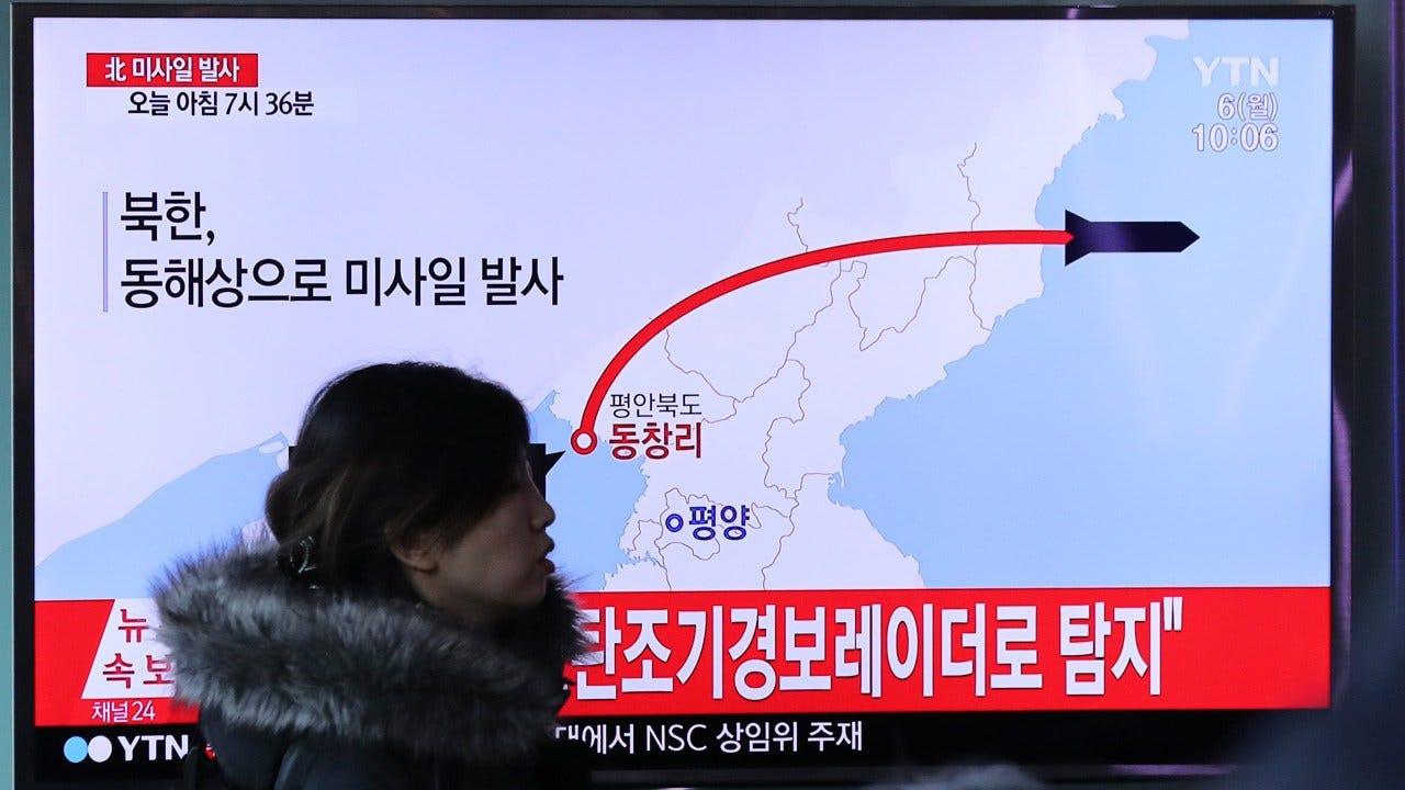 North Korea Fires Ballistic Missiles Into Ocean, South Korea's Military Says