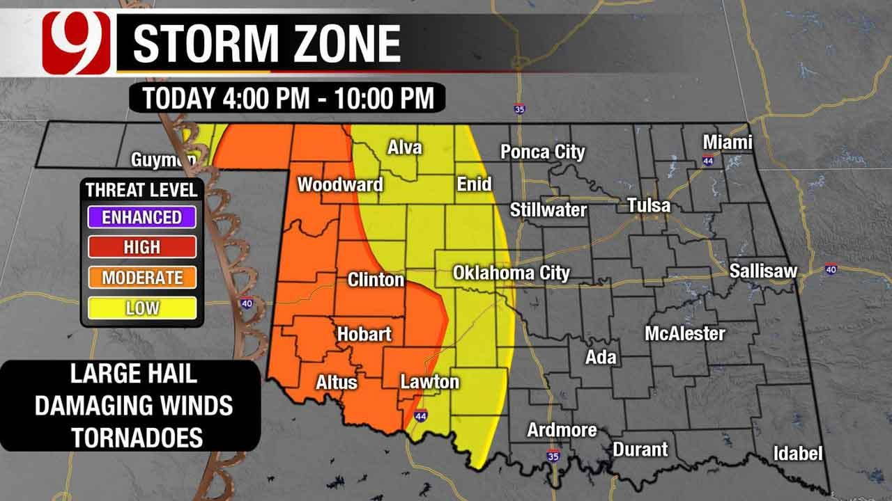 Two Waves Of Severe Weather En Route To Oklahoma