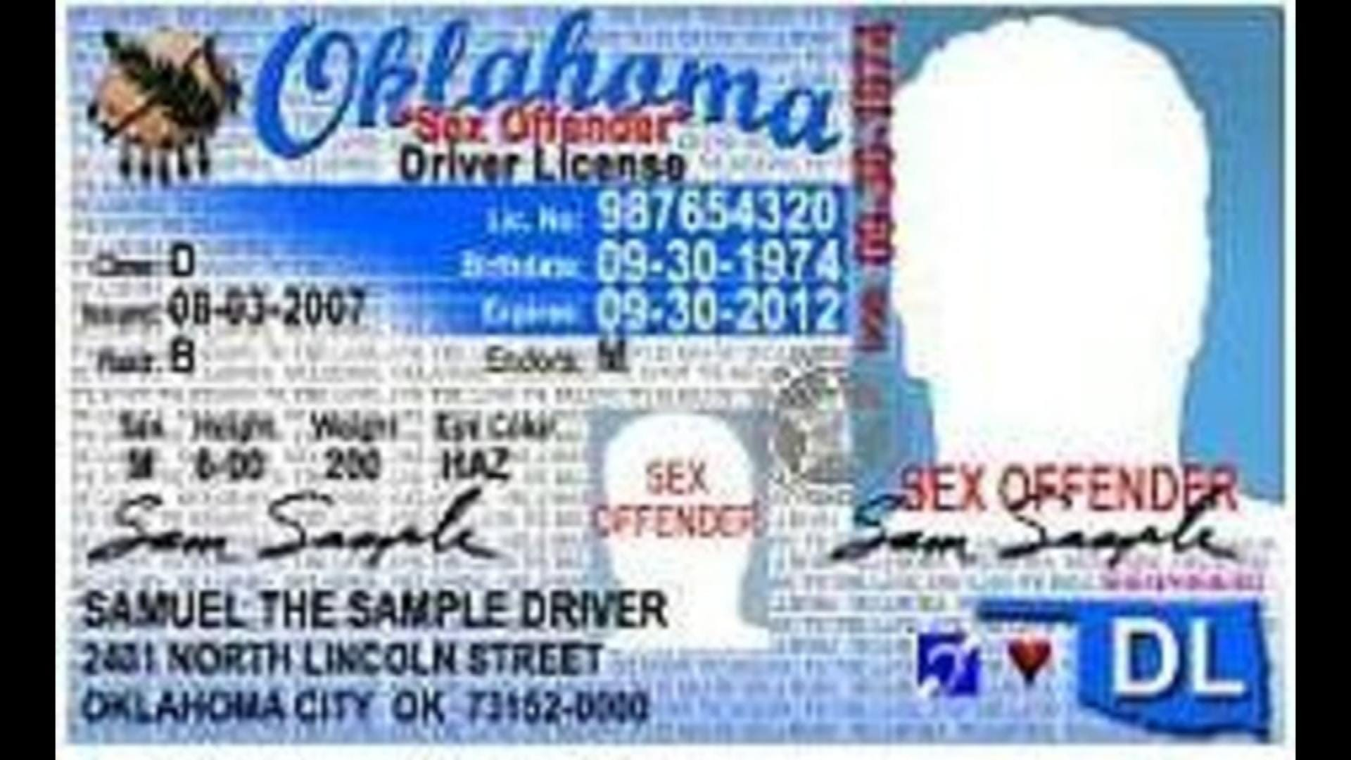 Federal Court Upholds Oklahoma 'Sex Offender' Label On Driver's License Law