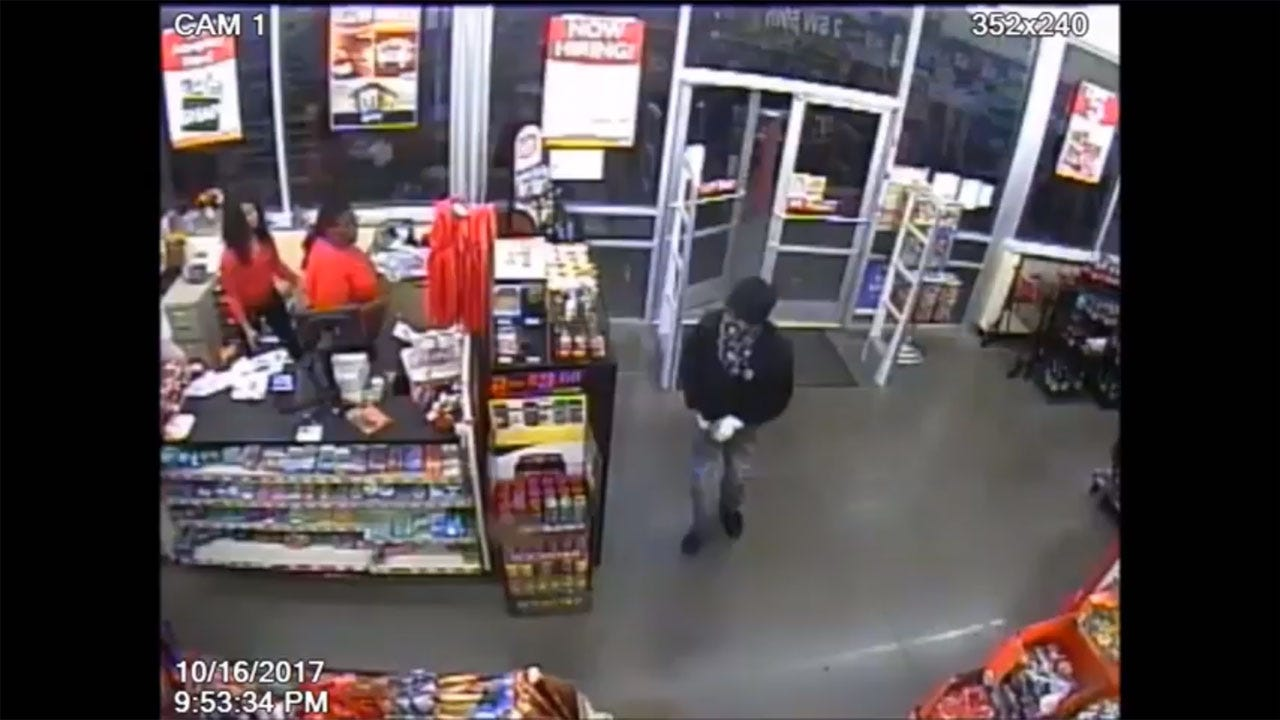 Armed Suspect Caught On Camera Holding Up SW OKC Store