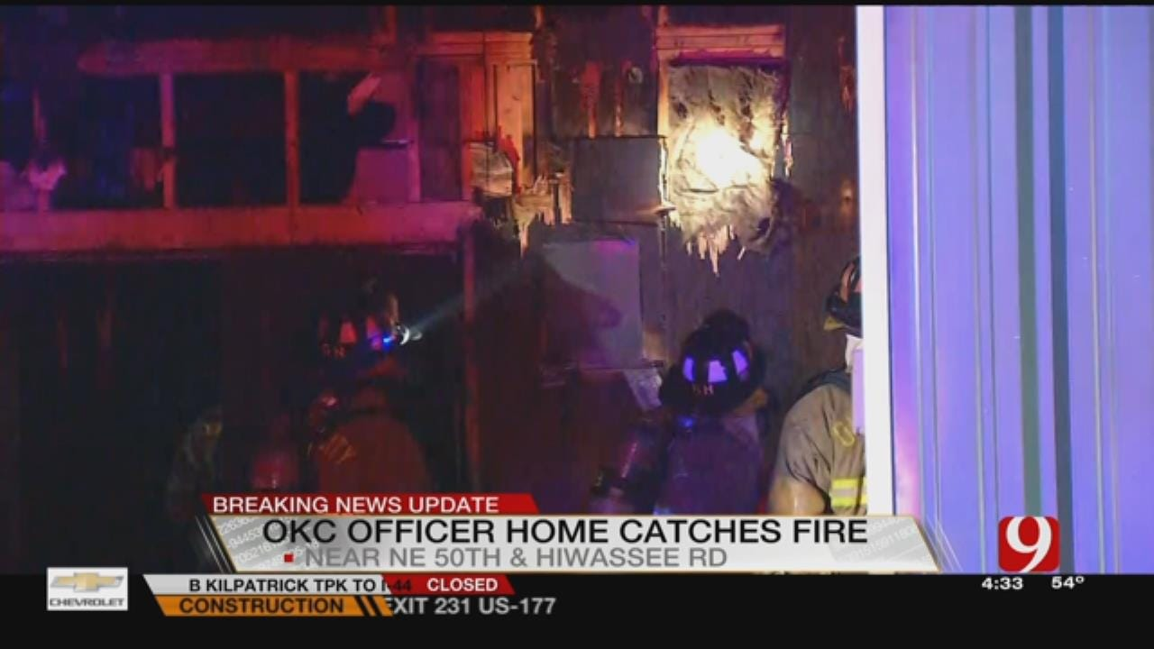Arson Investigators Respond To Fire At OCPD Officer's Home