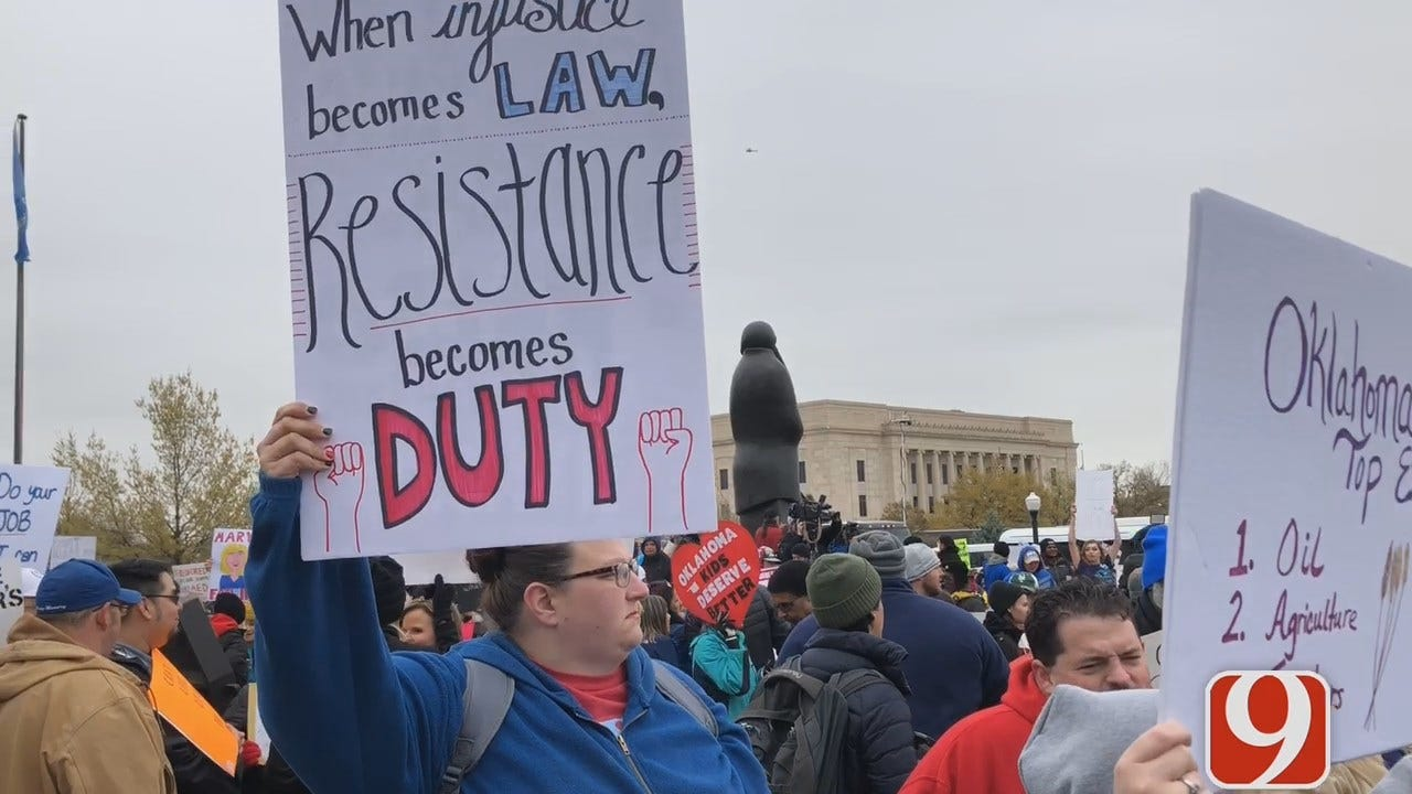 [UNFILTERED] Sights, Sounds From Day 1 Of Oklahoma Teacher Walkout