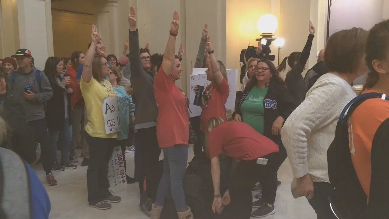 [UNFILTERED] Student Protestors Invoke Hunger Games Symbol At State Capitol