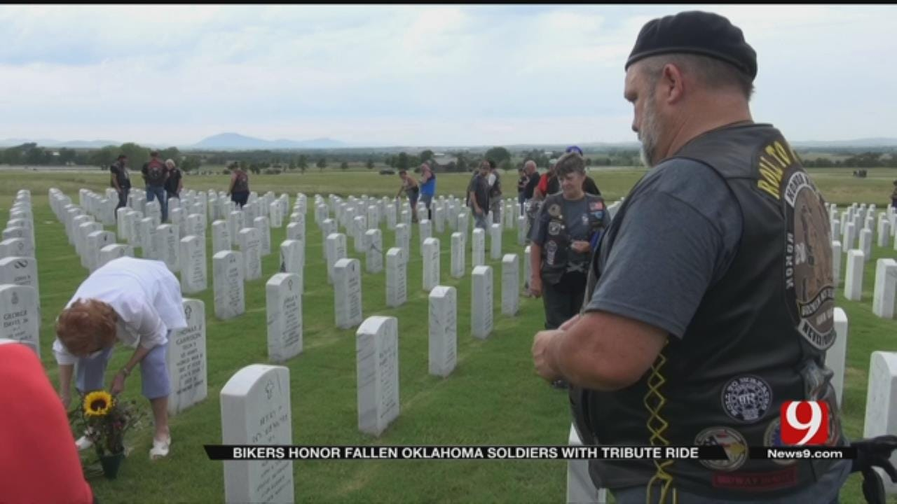 Bikers Honor Fallen Oklahoma Soldiers With Tribute Ride