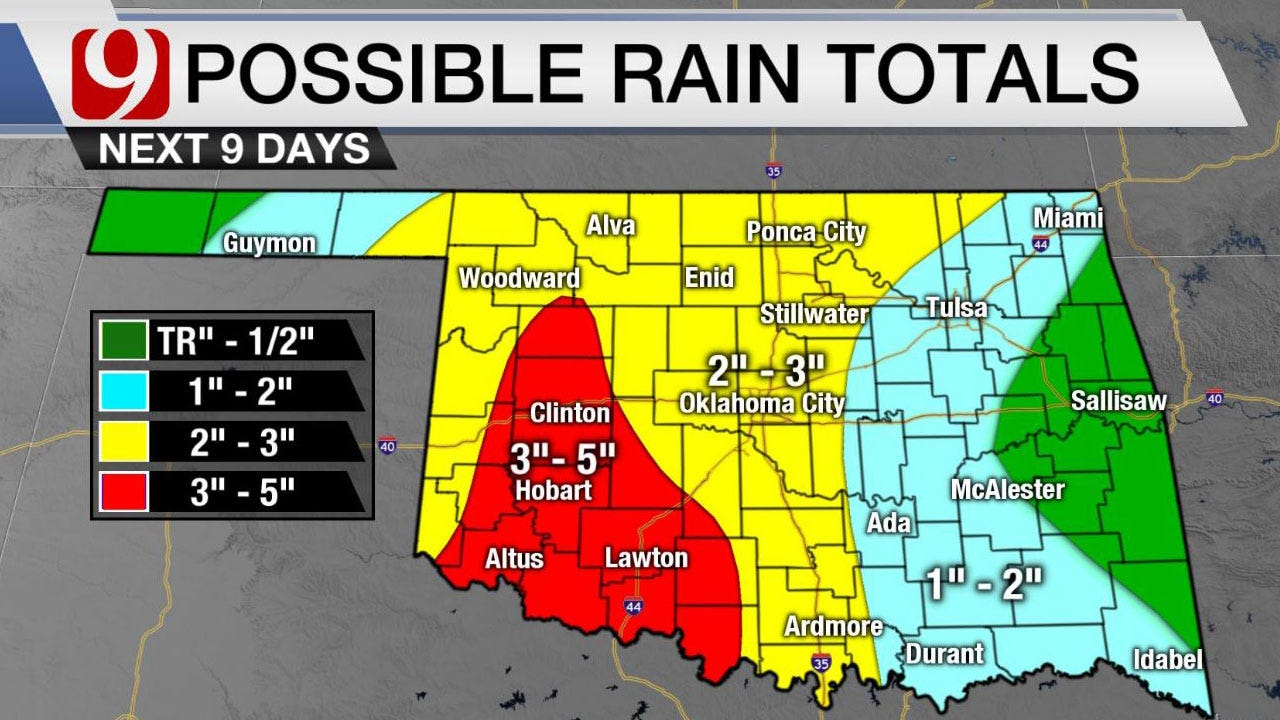 Statewide Rain And Storms With Highs In The 70-80s