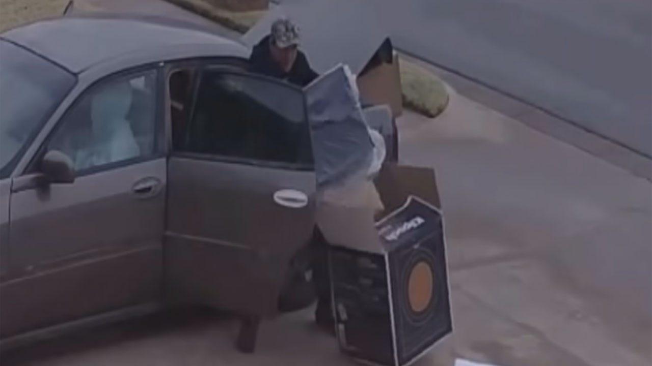 SW OKC Homeowner Capture Porch Pirates On Camera