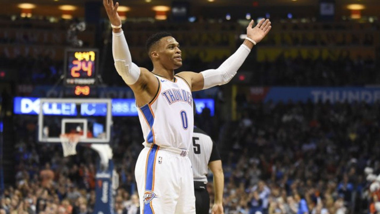 George, Westbrook Lead Thunder Past Bulls 121-96