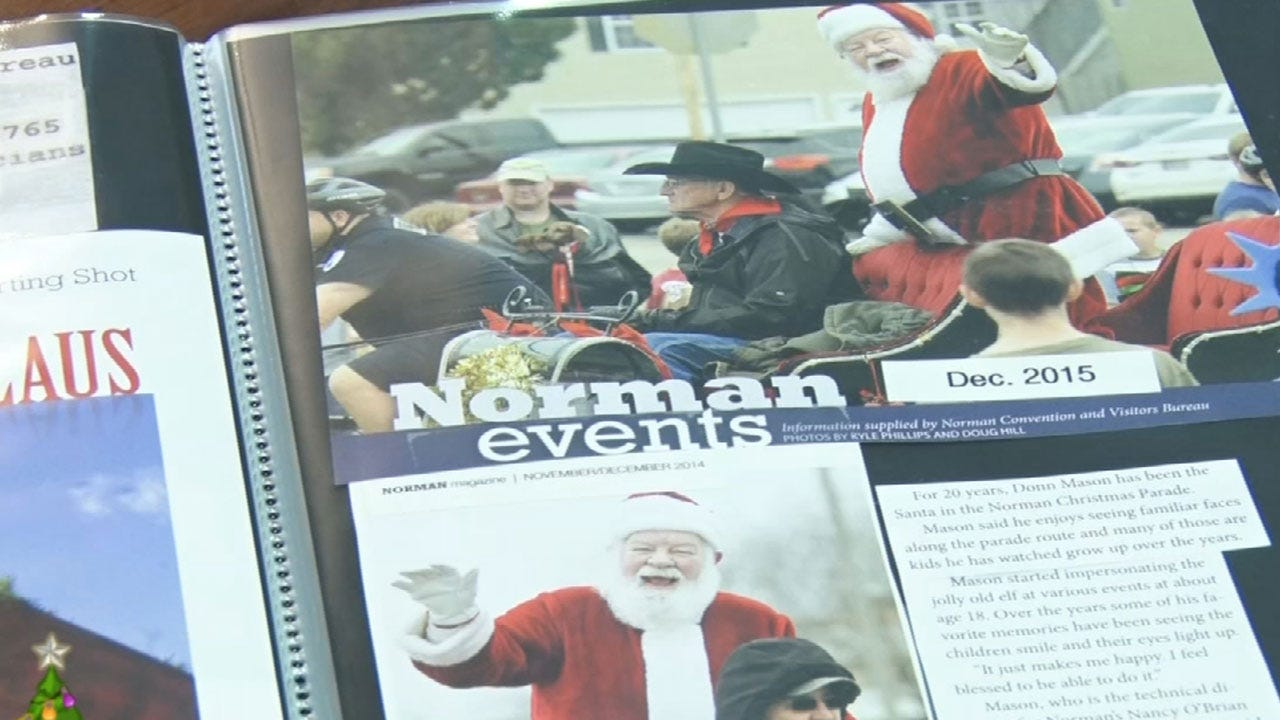 Local Santas Rally Around Injured Norman Santa