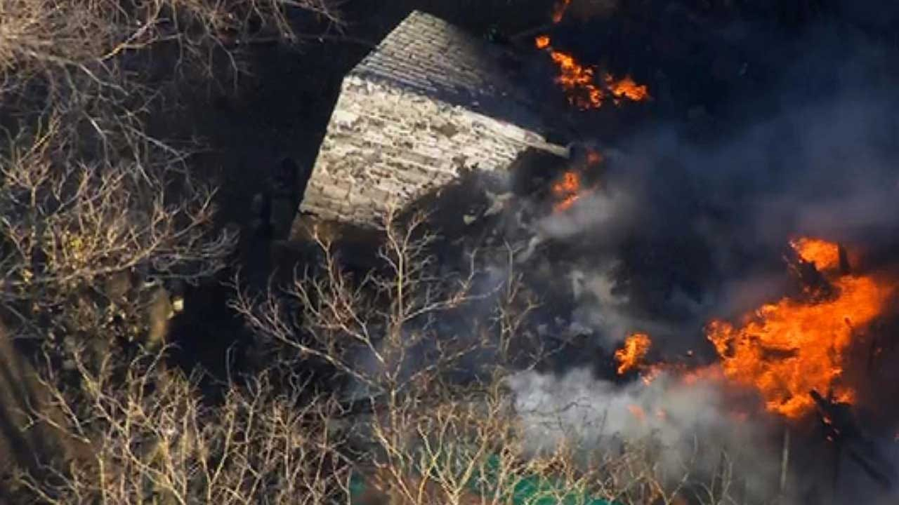 Residents Make It To Safety After House Catches Fire In SW OKC