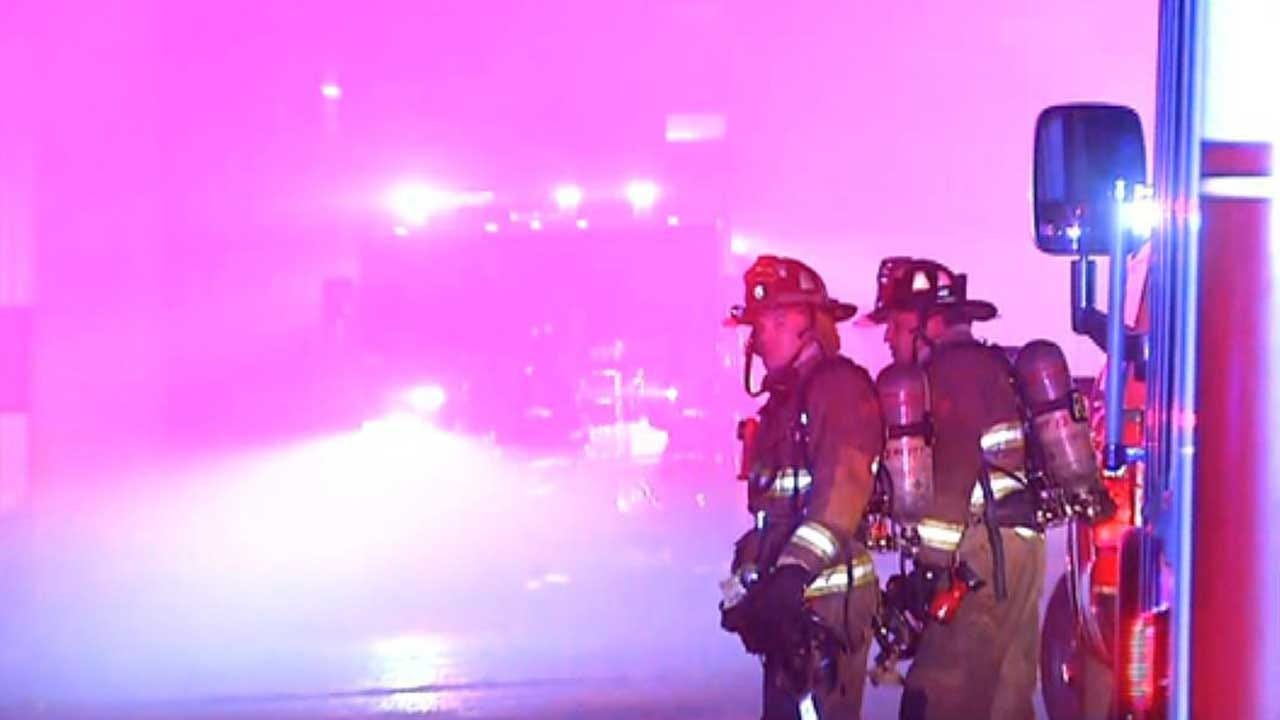 Firefighters Battle Commercial Fire In Downtown OKC