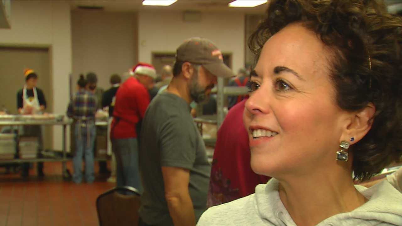 Volunteers Preparing To Feed Thousands At Annual Red Andrews Christmas Meal