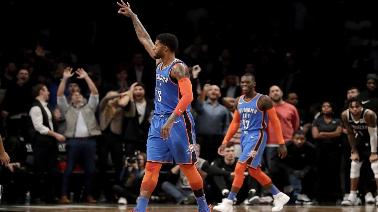George Scores 25 Of 47 In 4th, Rallies Thunder Past Nets