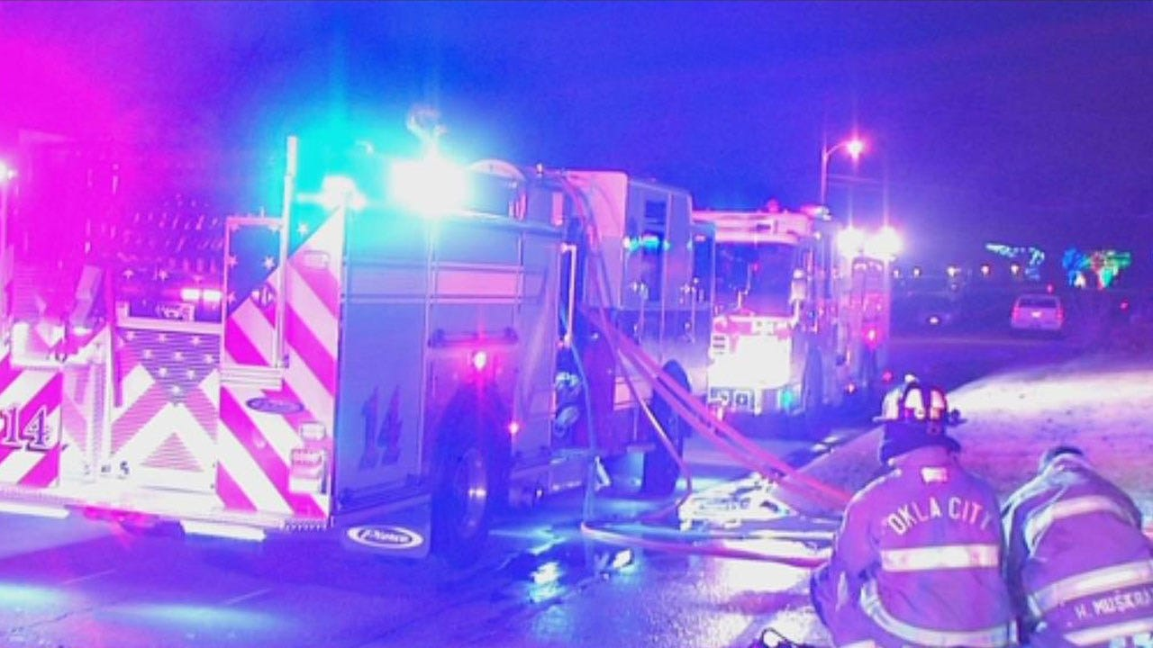 Crews Extinguish Fire At Vacant Apartment Building In NW OKC
